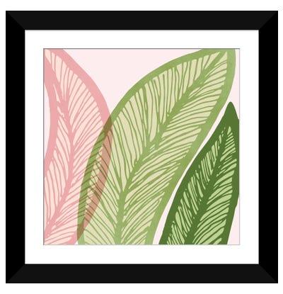 Modern Banana Leaf Framed Art Print