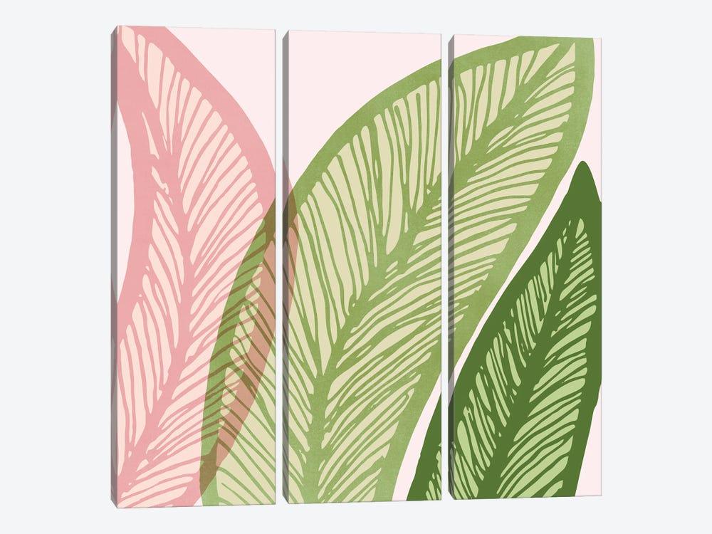 Modern Banana Leaf by Modern Tropical 3-piece Canvas Wall Art