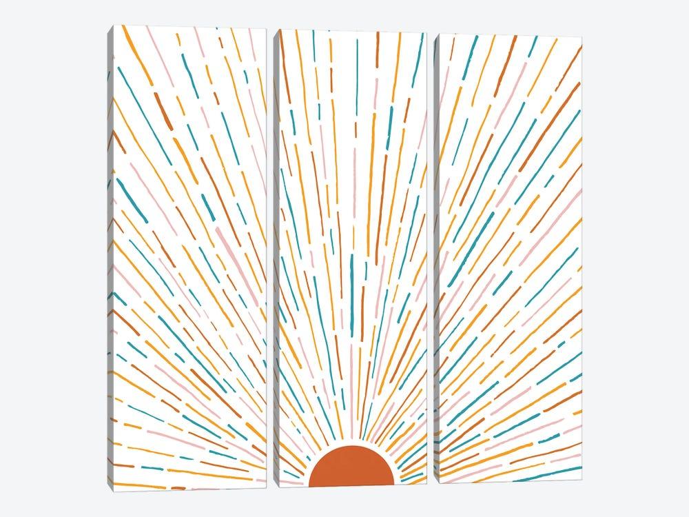 Sunshine All Around by Modern Tropical 3-piece Canvas Art Print