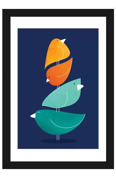 Bird Stack I Framed Art Print
