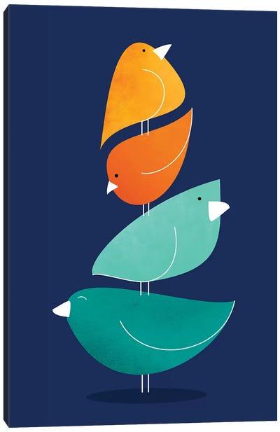 Bird Stack I Canvas Art Print