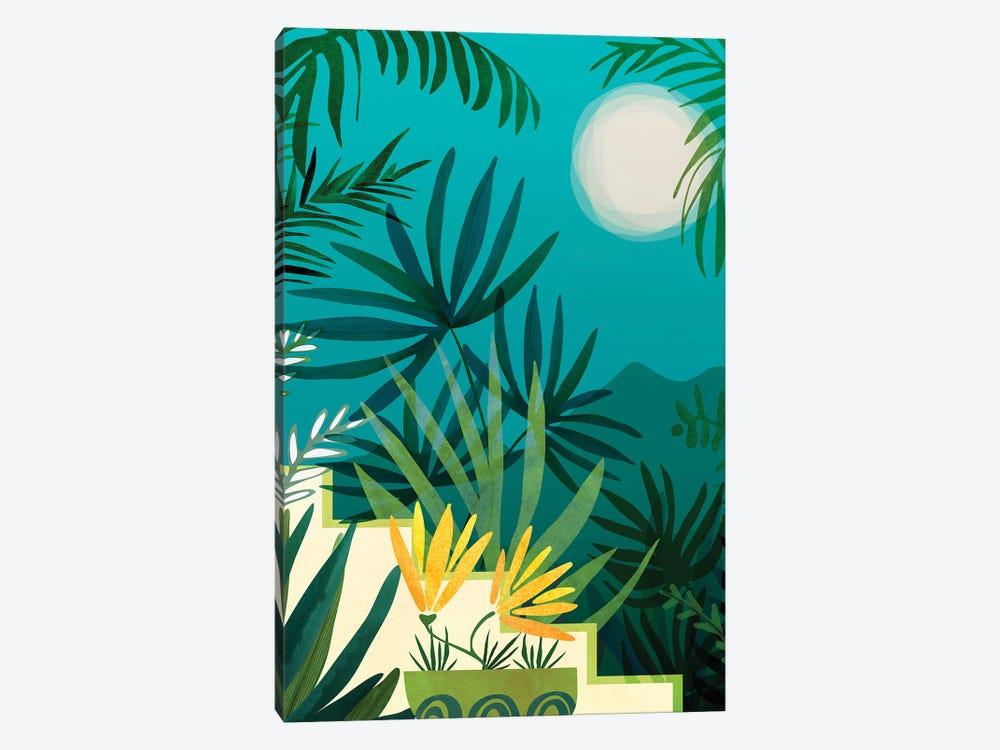 Rainforest With Moonlight by Modern Tropical 1-piece Canvas Art Print
