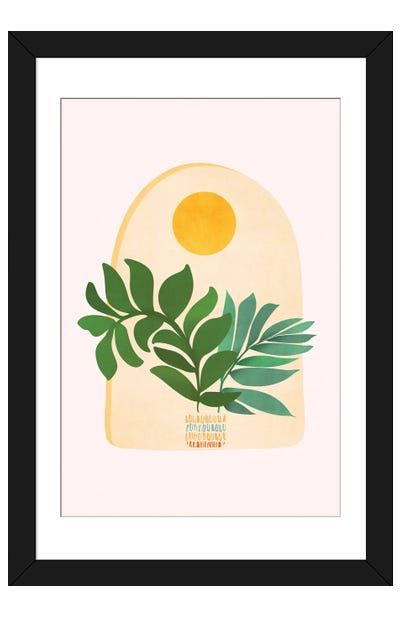 Boho Summer Scene Framed Art Print