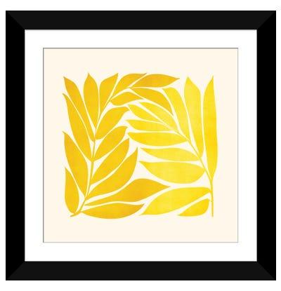 Mid Mod Vines Framed Art Print