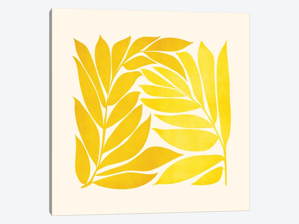 Mid Mod Vines by Modern Tropical 1-piece Canvas Art