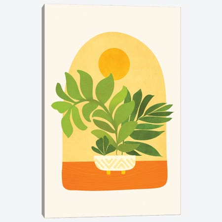 Sunday Sunset Canvas Print #MTP184} by Modern Tropical Canvas Wall Art