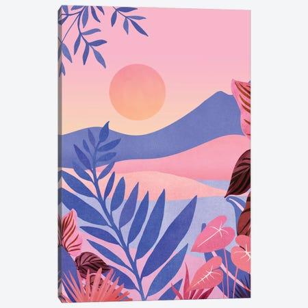Hawaiian Sunset Canvas Print #MTP185} by Modern Tropical Canvas Artwork