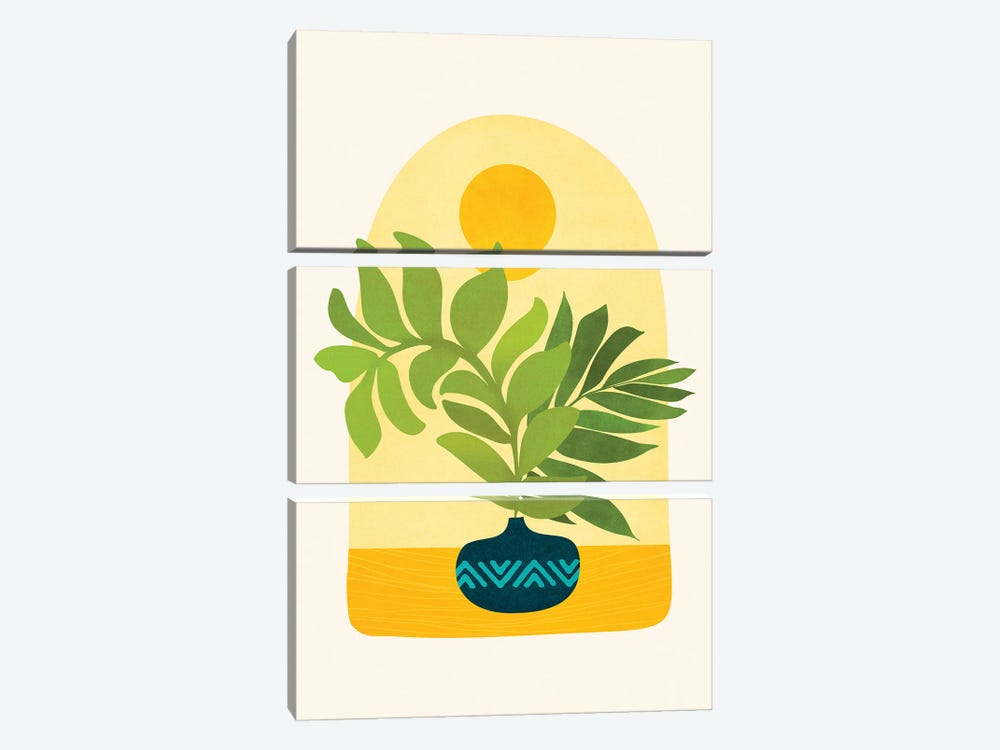 Sunday Morning by Modern Tropical 3-piece Canvas Art Print