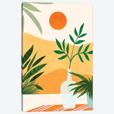 California Sunset Views Canvas Print #MTP189} by Modern Tropical Canvas Art Print