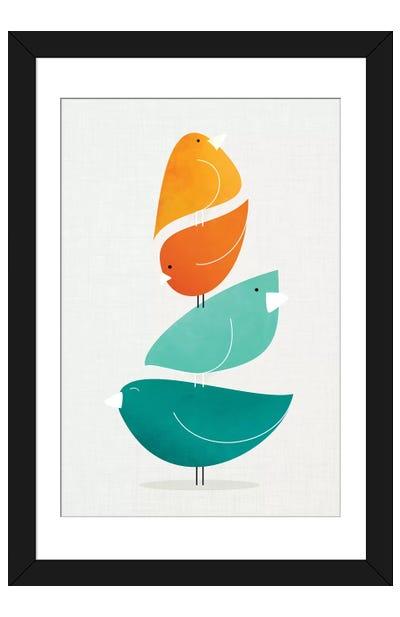 Bird Stack II Framed Art Print