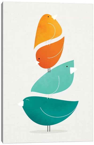 Bird Stack II Canvas Art Print