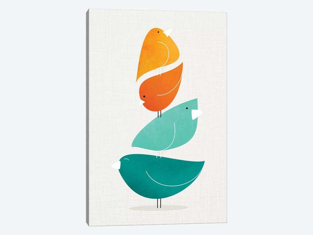 Bird Stack II by Modern Tropical 1-piece Art Print