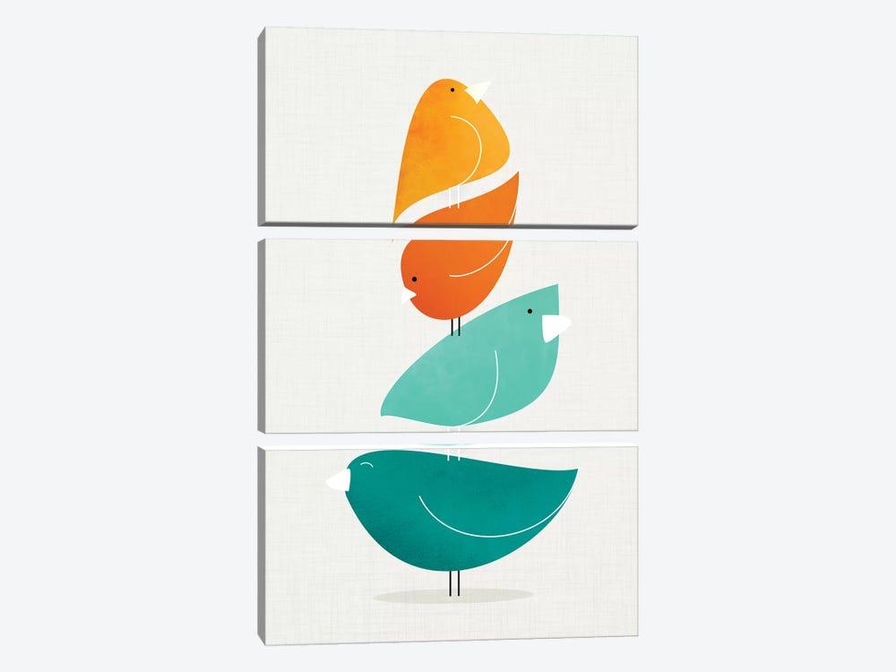 Bird Stack II by Modern Tropical 3-piece Art Print