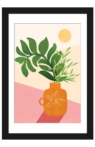 Greenery + Sunlight Framed Art Print