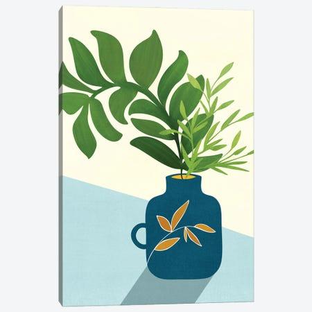 Vintage Window Garden Canvas Print #MTP193} by Modern Tropical Canvas Wall Art