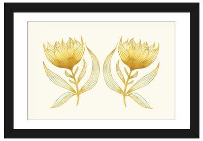 Sunflower Sisters Framed Art Print