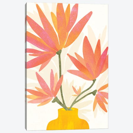 Bright Blooms Canvas Print #MTP198} by Modern Tropical Canvas Art