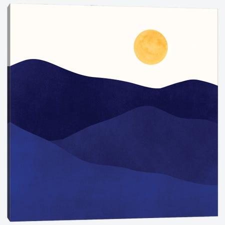 Indigo Mountain Landscape Canvas Print #MTP199} by Modern Tropical Canvas Artwork