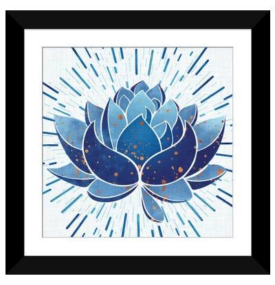 Blooming Indigo Lotus Framed Art Print