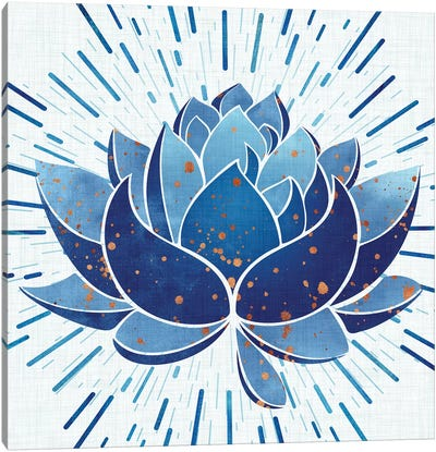 Blooming Indigo Lotus Canvas Art Print