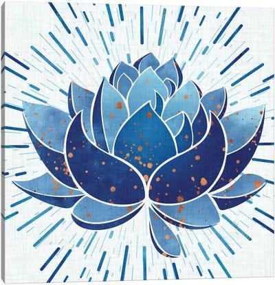 Blooming Indigo Lotus Canvas Art Print