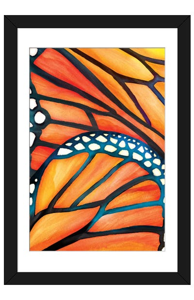 Abstract Butterfly Framed Art Print