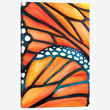 Abstract Butterfly Canvas Print #MTP1} by Modern Tropical Art Print
