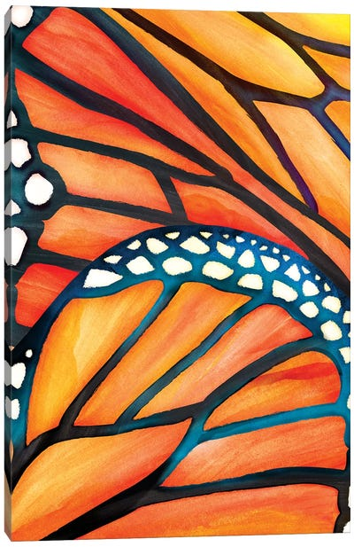 Abstract Butterfly Canvas Art Print