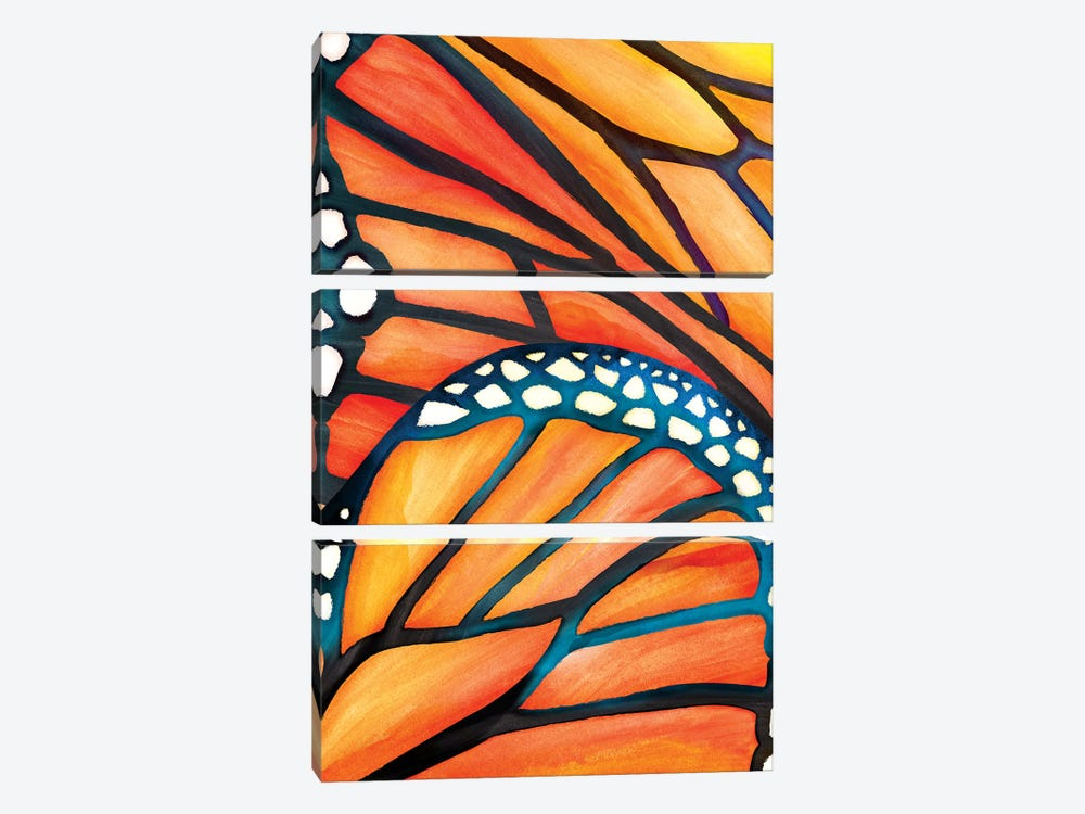 Abstract Butterfly by Modern Tropical 3-piece Art Print