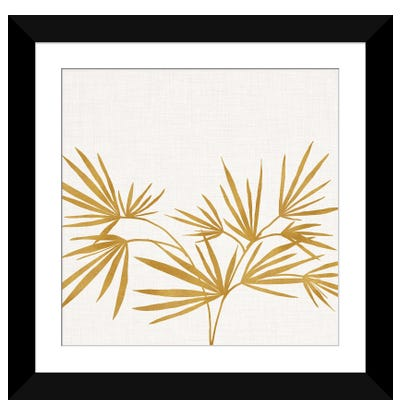 Golden Fan Palm Framed Art Print