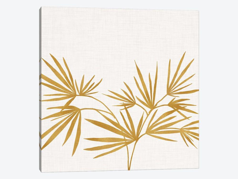 Golden Fan Palm by Modern Tropical 1-piece Canvas Art Print
