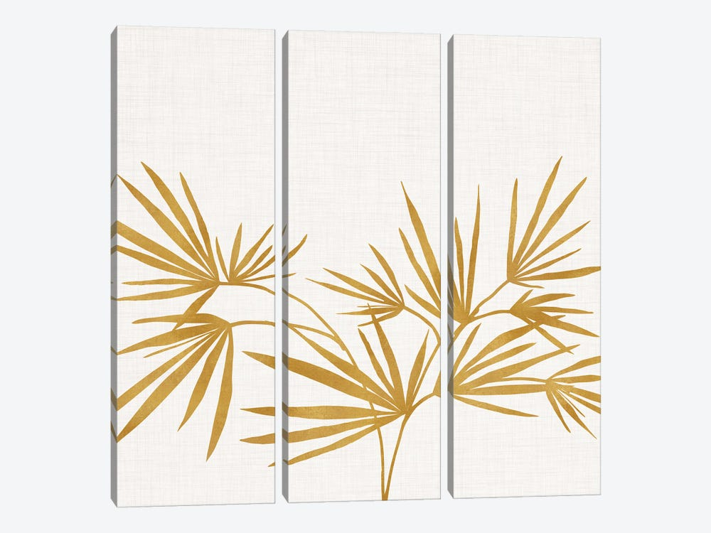 Golden Fan Palm by Modern Tropical 3-piece Art Print