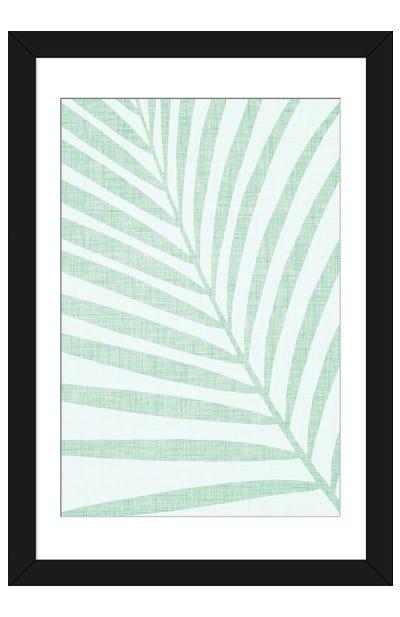 Pastel Palm Leaf Framed Art Print