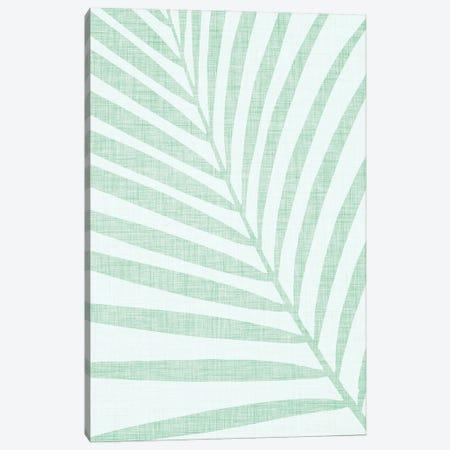 Pastel Palm Leaf Canvas Print #MTP202} by Modern Tropical Canvas Artwork