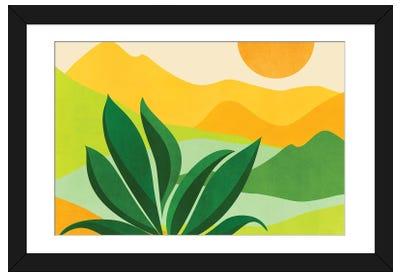 Peaceful Mountain Paradise Framed Art Print