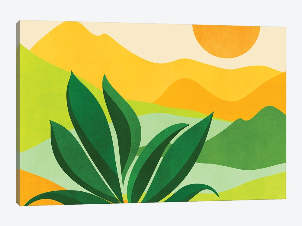 Peaceful Mountain Paradise by Modern Tropical 1-piece Canvas Wall Art