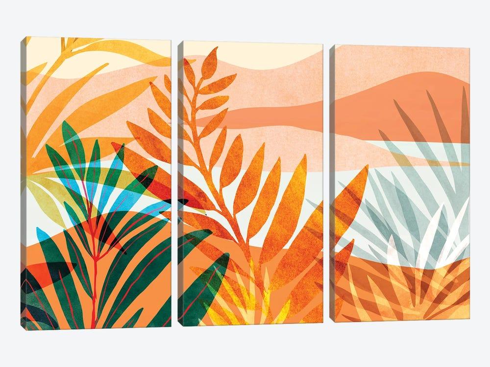 Summer Rainforest by Modern Tropical 3-piece Canvas Art