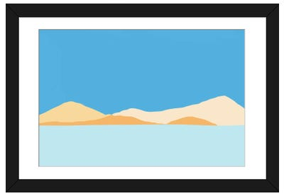 View From The Sea Framed Art Print