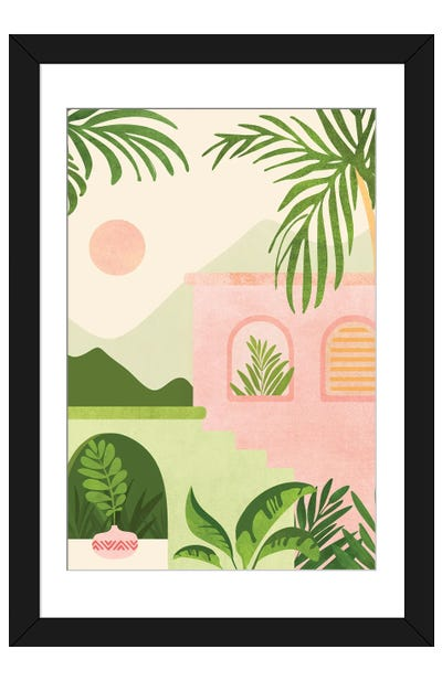 Mountain Villa Framed Art Print