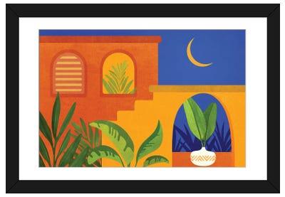 Moonlight Villa Framed Art Print
