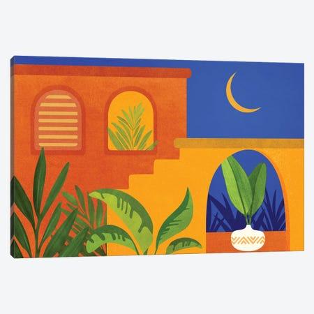 Moonlight Villa Canvas Print #MTP218} by Modern Tropical Art Print