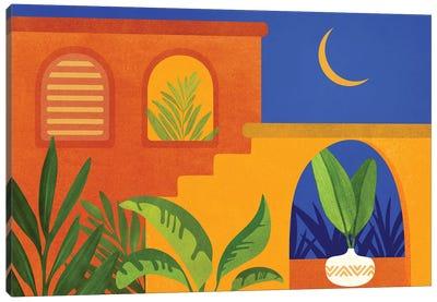 Moonlight Villa Canvas Art Print
