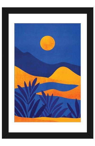 Moonrise Mountains Framed Art Print