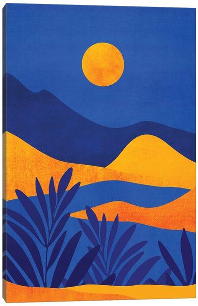 Moonrise Mountains Canvas Art Print