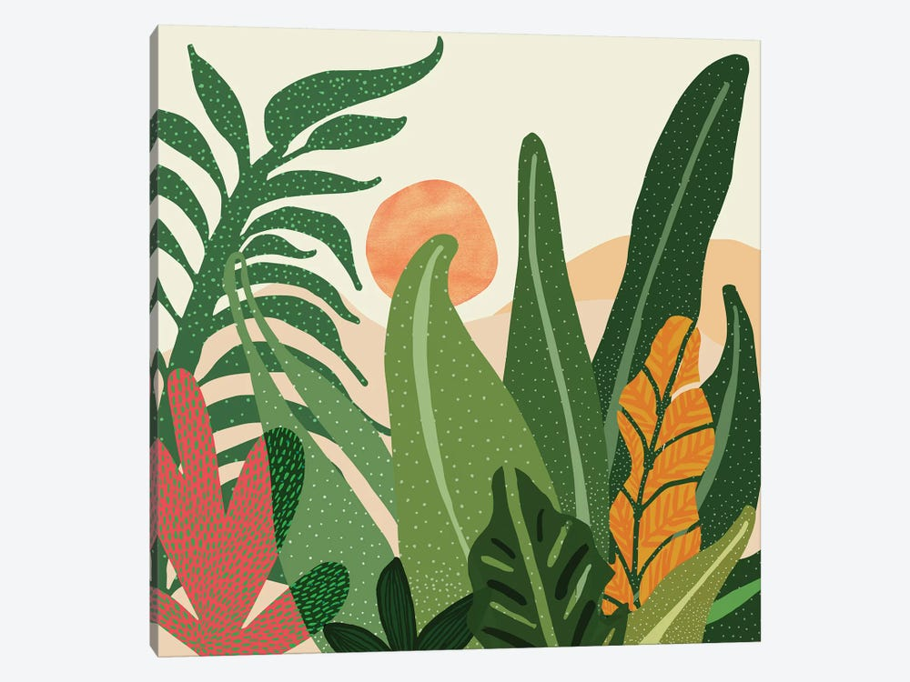 Desert Garden Sunset by Modern Tropical 1-piece Canvas Print