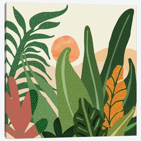 Desert Garden Sunset Canvas Print #MTP21} by Modern Tropical Canvas Art
