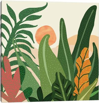 Desert Garden Sunset Canvas Art Print