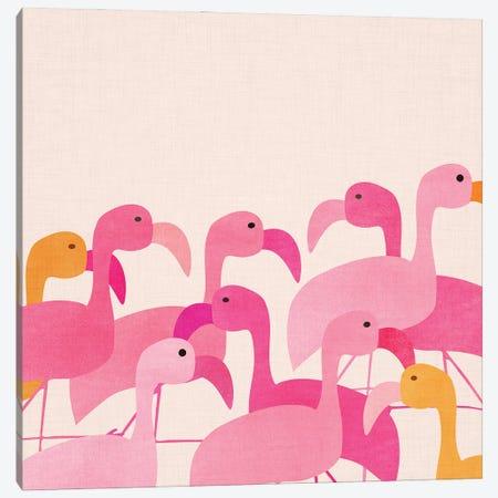 Florida Flamingos Canvas Print #MTP220} by Modern Tropical Canvas Art