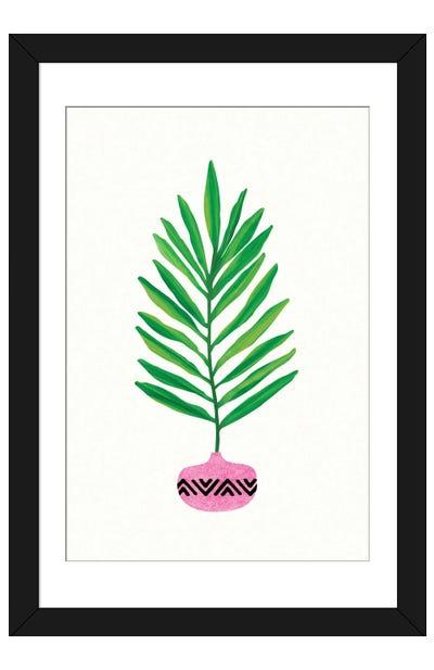 Modern Tropical Leaf Framed Art Print