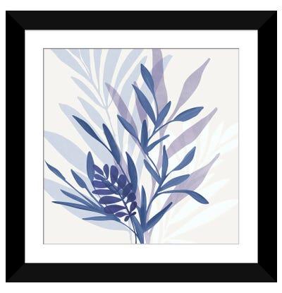 Bouquet Blues Framed Art Print
